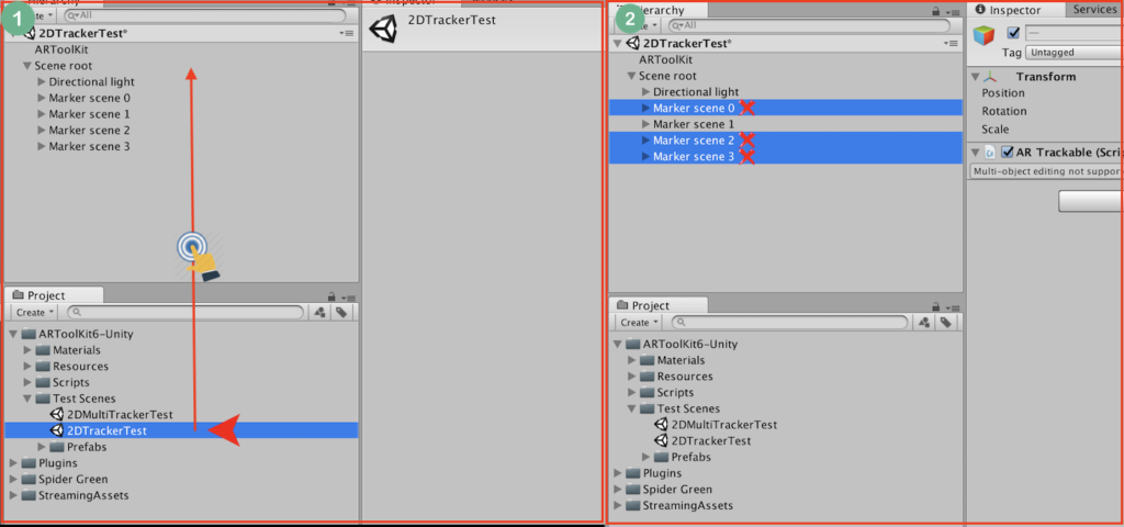 ARToolkit Scene import